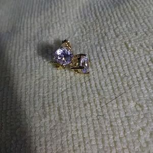 Jewelry - New 14 k gold plated cz stud earrings
